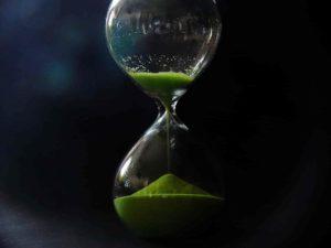 砂時計で2分計測する