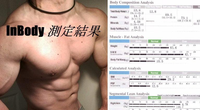 インボディ 測定で筋肉量がいくら増えたか調べてみた(筋トレ歴8年)
