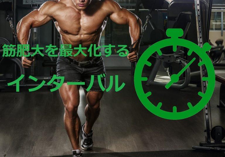 筋肉量を最大限に増やす 筋トレのインターバル を科学的に理解しておこう